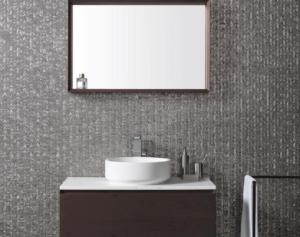 Clearstile_Mosaic_Bathroom_Tile_wall_with_basin_and_mirror_kildare_and_Dublin