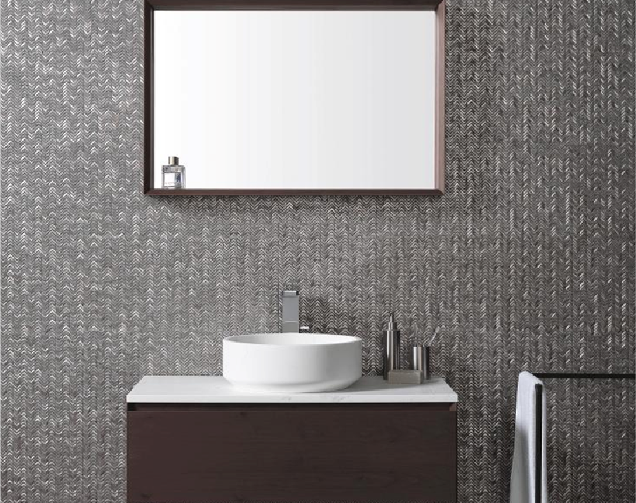 Clearstile_Mosaic_Bathroom_Tile_wall_with_basin_and_mirror_kildare_and_Dublin